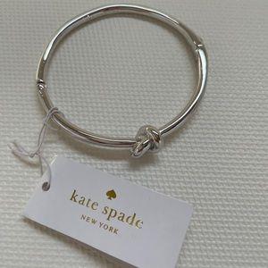 Kate Spade Sterling Silver Knot Bangle